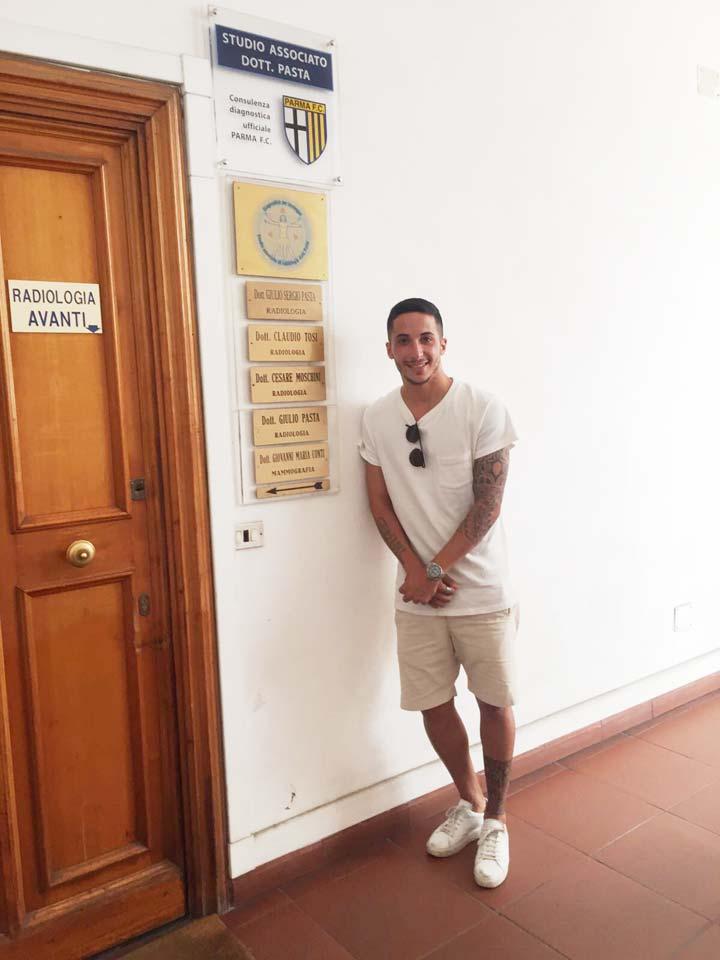 Matteo Scozzarella del Parma Calcio