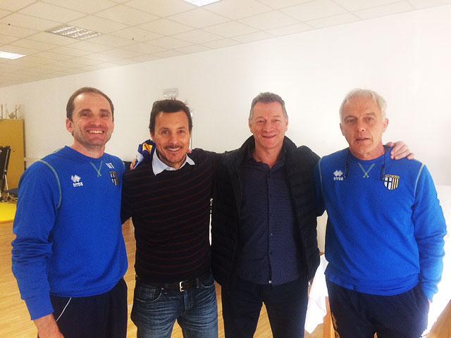 Fisioterapista del Bayern in visita al centro sportivo del Parma